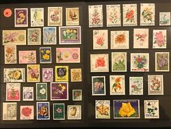 EXOTIC FLOWERS amp; PLANTS ON STAMPS TOPIC Stamp Collection FREE SHIPPING LOT 39 $10.00