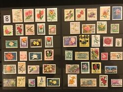 EXOTIC FLOWERS amp; PLANTS ON STAMPS TOPIC Stamp Collection FREE SHIPPING LOT 8 $10.00
