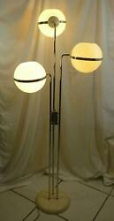 MCM 3 Globe Chrome White Floor Lamp Style of Goffredo Reggiani Local P Up 20E017 $409.99