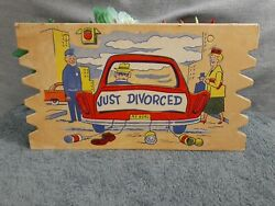 Vintage Novelty Extra Large Post Card Just Divorced 9#x27;x5#x27; Funny Postcard $10.00