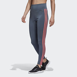 adidas Designed 2 Move 3 Stripes High Rise Long Tights Women#x27;s $23.99