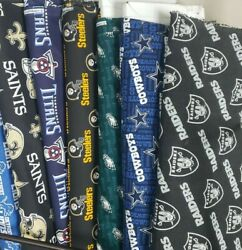 NFL Football Cotton Fabric By The 1 4 Quarter Yard PICK TEAM 9quot;L x 42 58quot;W $7.97