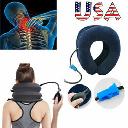 Air Inflatable Pillow Cervical Neck Head Pain Relief Traction Support Brace USA $9.48