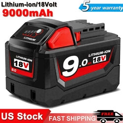 For Milwaukee M18 18-Volt Lithium High Capacity Battery Pack HD 9.0Ah 48-11-1890 $54.99