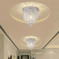 Crystal Chandelier Lighting Modern Flush Mount Ceiling Light Kitchen Living Room