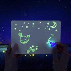 A5 Fluorescent Light Writing Pad Kids Drawing Painting Board Educational Toy US $9.39