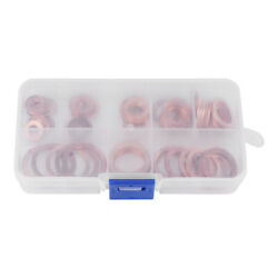 80pcs Solid Copper Sump Plug Assorted Washers Metal Kit Garage Engine Set $12.82