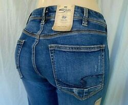 SILVER WOMEN#x27;S JEANS SIZE 31 quot;IZZYquot; ANKLE SLIM ALMOST STRAIGHT HIGH RISE $30.00
