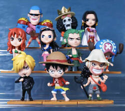 10Pcs Set One Piece Luffy Zero Brook Japanese Anime Figures $28.99