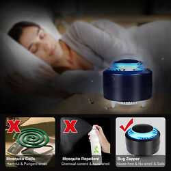 US Portable USB UV Light Mosquito Killer Insect Fly Bug Zapper Trap Catcher Lamp $14.24