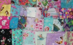 12 YARD Trolls Care Bear Hello Kitty Disney Strawberry Shortcake Cotton Fabric $5.95