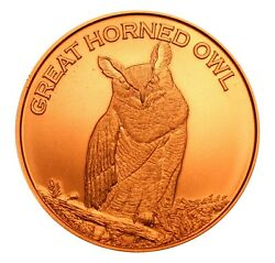 1 oz Copper Round Great Horned Owl $2.70