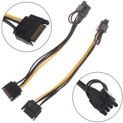 15pin SATA Cable Male to 8pin 62 PCI E Power Cable 20cm for Graphic RAS $2.68