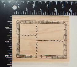 Morning Star Grid Rubber Stamp L $8.95