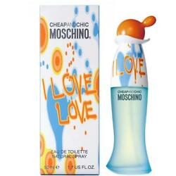 I Love Love Perfume by Moschino 1.7 oz edt for Women New in Box Sealed (Not 3.4) $23.50
