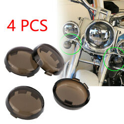 4Pcs Smoke Turn Signal Lens Cover Fit For Harley Dyna Softail Sportster 86-17 $9.99
