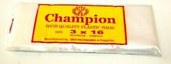CHAMPION HIGH QUALITY ICE CANDY PLASTIC POPSICLE BAGS 3X16 100 PCS PHILIPPINES $8.00