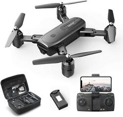 Holy Stone HS350 FPV Foldable Drone with 1080P HD Camera Quadcopter Tapfly Case $55.99