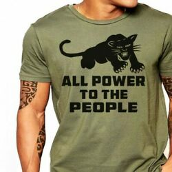 Black Panther Party all power to the people T-Shirt Funny Vintage Gift For Men $12.30