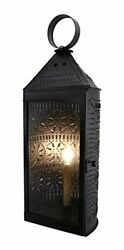 Irvin#x27;s Countryside Single Candlestick Light Harbor Punched Tin Lantern In Black $78.95