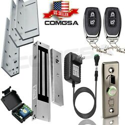 Access Control System, door entry Electric Magnetic Lock 600LB + l z bracket USA $149.99