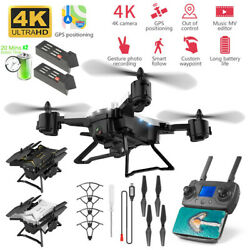 GPS Drones 4K HD 5G WIFI FPV 2KM RC Quadcopter Foldable Helicopter Drones $133.49