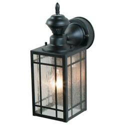 1 Light Black Motion Activated Outdoor Wall Lantern Sconce by Heath Zenith