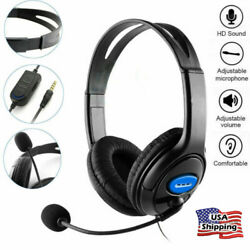 Stereo Wired Gaming Headset Headphones with Microphone for PlayStation 4 PS4 $14.99