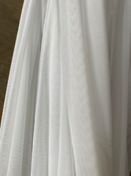 White tulle fabric lingerie wedding milk tulle fabric by yard 59quot; $9.00