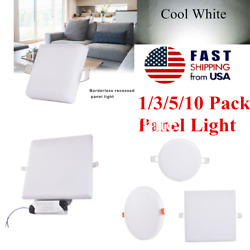 10/18/24/36W Borderless Recessed Panel Light Square Round SMD Cool White Bulb US $25.88