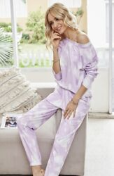 NWT Boutique Designer Tie Dye Purple Lavender Loungewear Top Soft Comfortable $19.99