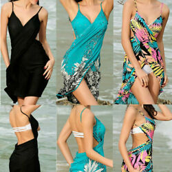 Sexy Women Bathing Suit Bikini Cover Up Beach Dress Sarong Wrap Pareo Swimwear $9.99
