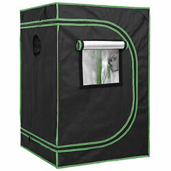 Mylar Hydroponic Grow Tent with Observation Window and Floor Tray Plant Growing $35.99