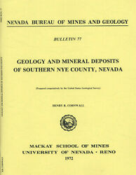 GOLD MINES Nye County NV Las Vegas Death Valley 1st ed BIG separate maps $59.77