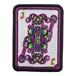 Green And Purple Joker Playing Card Patch Gambling Patches $5.99