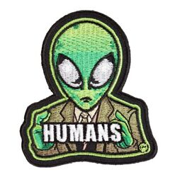 Green Alien In A Suit Patch Fun Sci Fi Alien Patches $4.99