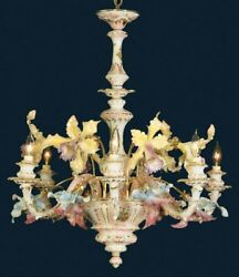 Capodimonte Mother of Pearl Chandelier 6 Light New $2099.99