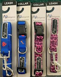 4 NEW DOG LEASHES AND COLLARS 2 2 SIZE MEDIUM $7.99