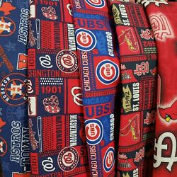 MLB Baseball Cotton Fabric By The 14 YARD  9
