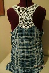 Endless Sun Bathing Cover Up Blue amp; Lace Size XL NEW WITH TAGS $10.00