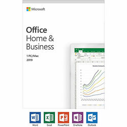 Microsoft Office Home and Business 2019 Windows or Mac 1 License PC CARD  $72.99