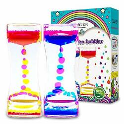Action Liquid Timer 2 Pc  Liquid Motion Bubbler Timer for Caliming Sensory Toy $14.99