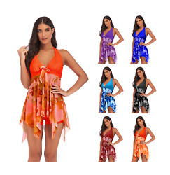 Women#x27;s Plus Size Floral Tankini Swim Dress Swimsuit Swimwear Bathing Suit 2X 5X $19.99