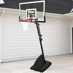 NBA Spalding 54quot; Portable Angled Basketball Hoop with Polycarbonate Backboard $449.97