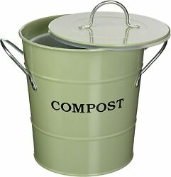 Nice BE ECO FRIENDLY Shabby Chic Style 1 gal Countertop Compost Bucket $59.95