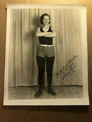 Extremely Rare Very Early Original Autographed 810 Female Wrestling Photo 30s 3 $249.99