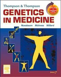 Thompson & Thompson Genetics in Medicine: With STUDENT CONSULT Online Access Th $4.49