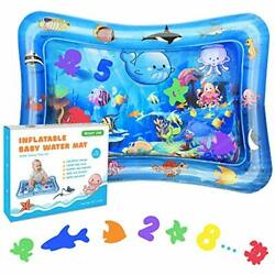 Bright One Tummy Time Water Play Mat Inflatable Play Mat for Infants 3 6 9 $26.03