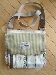 Fossil  boho crossbody  floral organizer bag purse $15.00