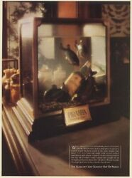 1986 The Glenlivet Scotch Whisky Bottle in Piranha Tank Slightly Out of Reach Ad $14.99